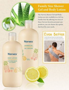 Our shower gel and body lotion now come in convenient family sizes!